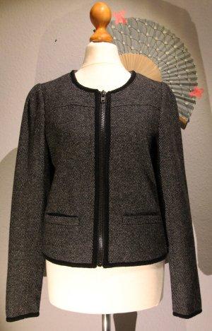 Blazer im Vintage-Stil * Jacke * Kastenform * Wolle * doppellagig * Schwarz * S