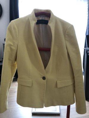 Zara Wool Blazer yellow wool
