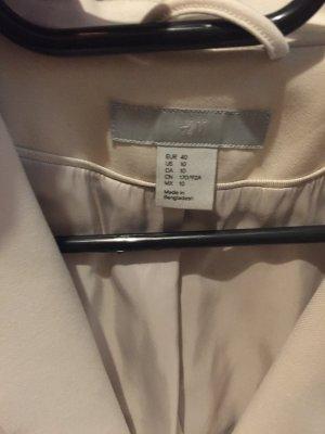H&M Blazer corto crema-color carne