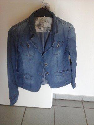 Blazer in Jeans mit Taschen