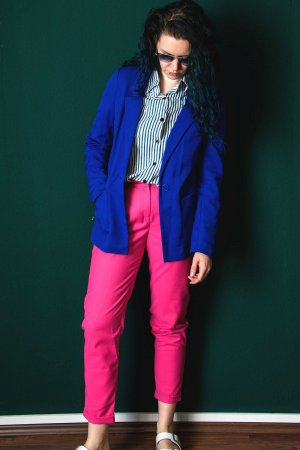 H&M Boyfriend blazer blauw