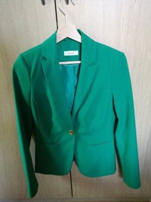 Blazer in kräftigem Grün mit goldenem Knopf