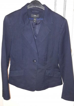 Blazer in navy blue / stripes