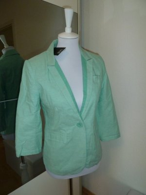 Blazer in Pastell Farbe Mint