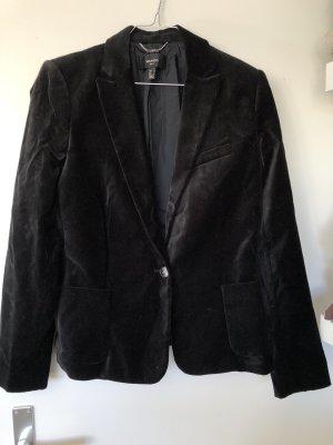 Mango Suit Smokingblazer zwart Katoen