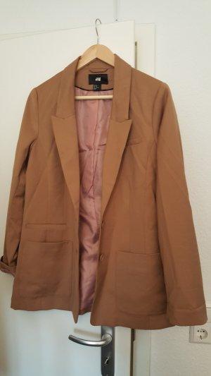 H&M Blazer largo marrón claro-camel