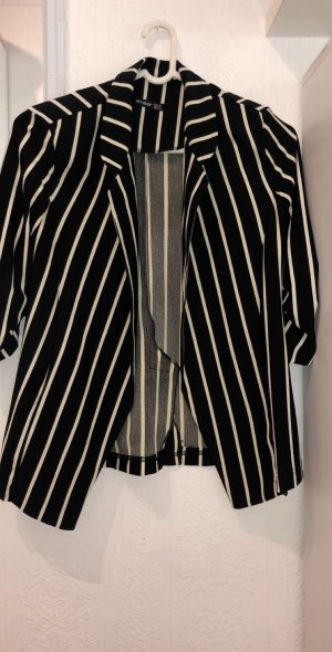 Wool Blazer black-white