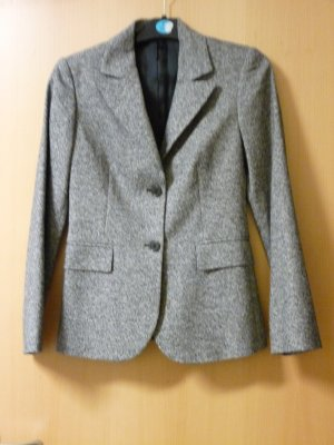 Blazer in schwarz weiß von Sisley Gr. 38 ital. gebr. Jacke Wolle