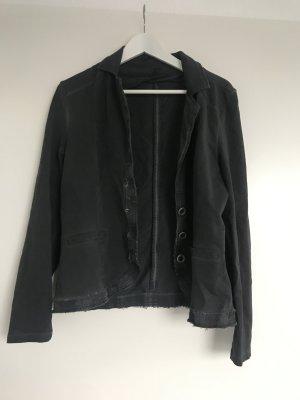 Jersey blazer donkergrijs-antraciet
