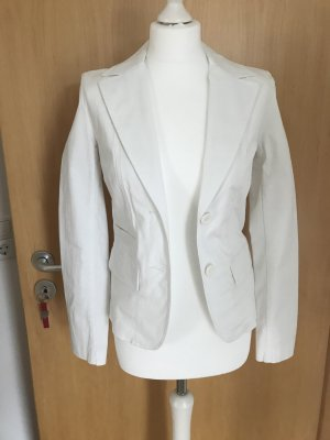 H&M Blazer en jean blanc