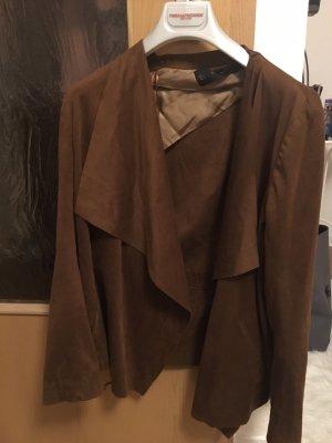 Zara Blazer en cuir brun