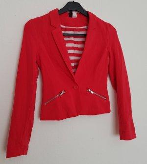 H&M Blazer boyfriend rouge clair-rouge