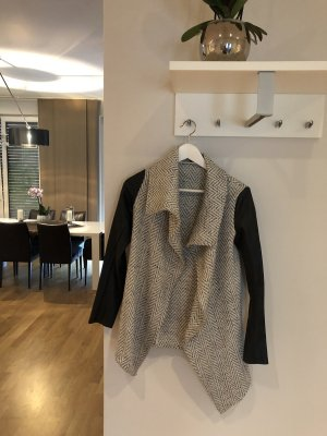 Knitted Blazer grey-black