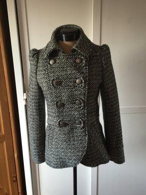 Blazer/Jacke aus schwarz-weissem Wollstoff von H&M