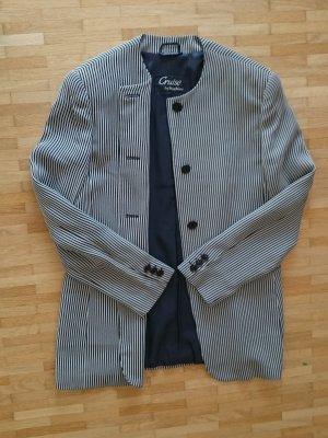 Blazer Jacke Business Damen schwarz weiß gestreift Nadelstreifen von Max Mara Gr. 40