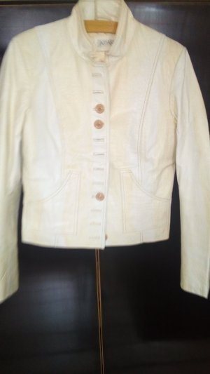 Apart Fashion Leather Blazer natural white leather