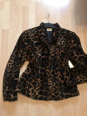 Blazer / Jacke im Animal Print Fake Fure Gr XL