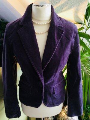 Blazer Jacke in lila grau mit Glitzer von More&More in Gr. M 38