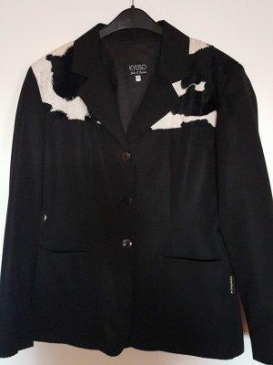 Blazer Jacke mit Kuhfell