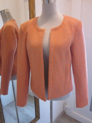 Blazer Jacke Orange Grau Gr 40