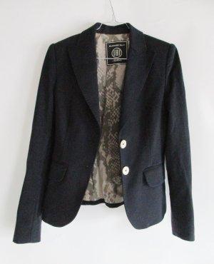 Blazer Jacke S 36 Dunkleblau Blau Blonde No.8 Stockholm Jersey Stretch Perlmutt Knopf Snake