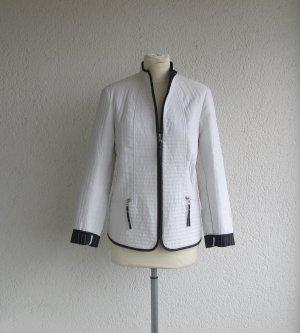 Alba Moda Leren blazer wit-zwart Polyester