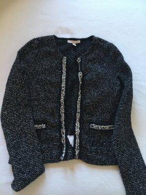 Esprit Tweed blazer zwart-wit Gemengd weefsel