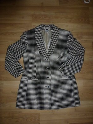 Blazer Jacke von Madeleine Gr. 38 kariert schwarz weiß