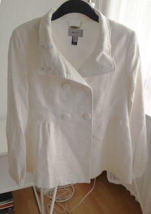 Blazer Jacke Wolle BW 40 M Mango MNG weiß creme Übergang