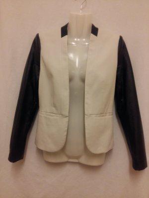 Blazer/Jacket/Jacke von H&M Gr. XS. Off-White/schwarz,