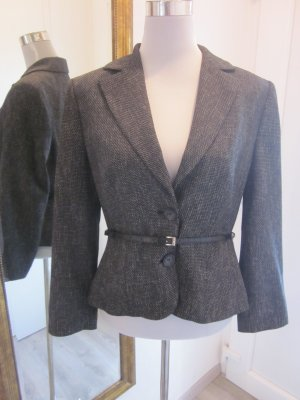 Blazer Jacket Schwarz grau Meliert Gr 40