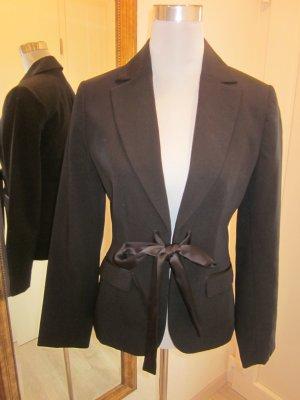 Blazer Jacket schwarz More&More Gr 36 mit Schleife