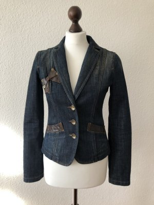 Moschino Jeans Denim Blazer multicolored cotton