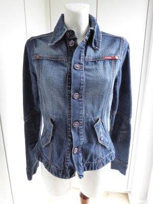 Blazer Jeansjacke mit toller Waschung Größe M