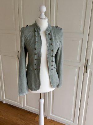 new collection Jersey blazer groen-grijs-khaki