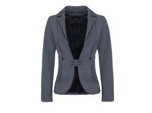 Short Blazer dark grey cotton