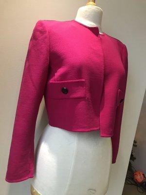 Blazer de lana negro-rosa