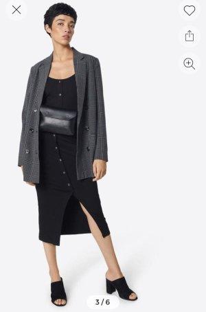 Object Long Blazer grey-black
