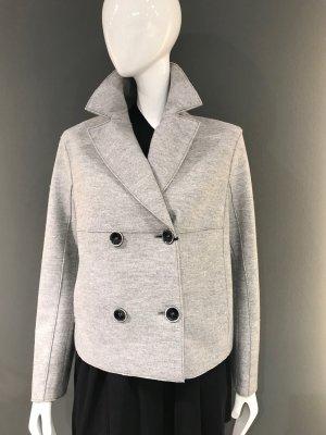 Luisa Cerano Blazer de lana gris claro-negro lana de esquila