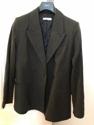 Mango Suit Boyfriend Blazer dark grey