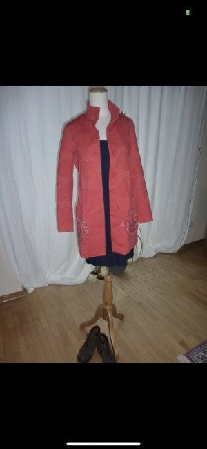 Desigual Short Coat red cotton