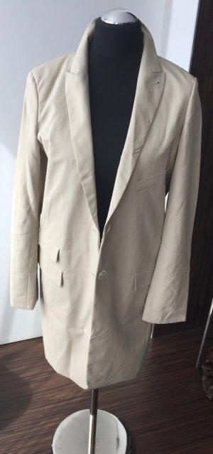 Blazer Mantel Longblazer beige Gr. 38 Highteck-Material