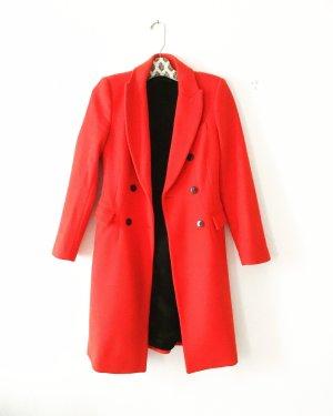 blazer mantel • wollmantel • rot • zara • classy • businesslook