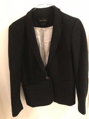 Massimo Dutti Blazer in lana nero