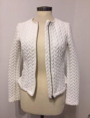 H&M Blazer de tela de sudadera blanco