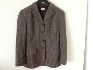 Sisley Blazer in lana marrone-grigio-marrone chiaro
