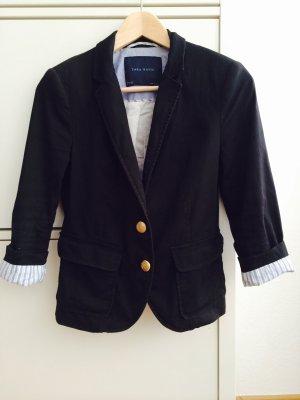 Zara Blazer court noir coton