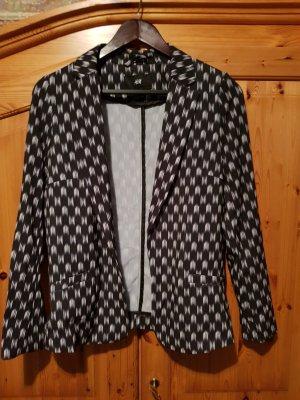 blazer mit abstrakten prints