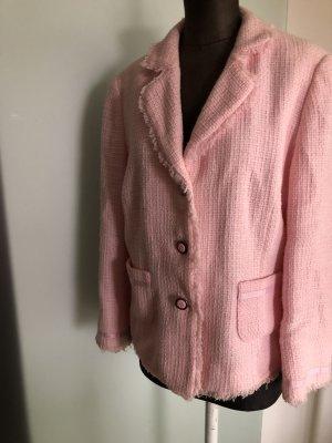 Blazer in tweed rosa chiaro