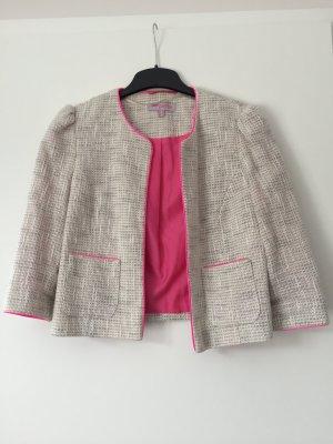 Blazer mit Futter und Details in pink